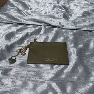 marc new york olive green wallet clutch